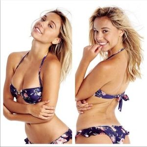 Wild fox bikini adjustable flower top new